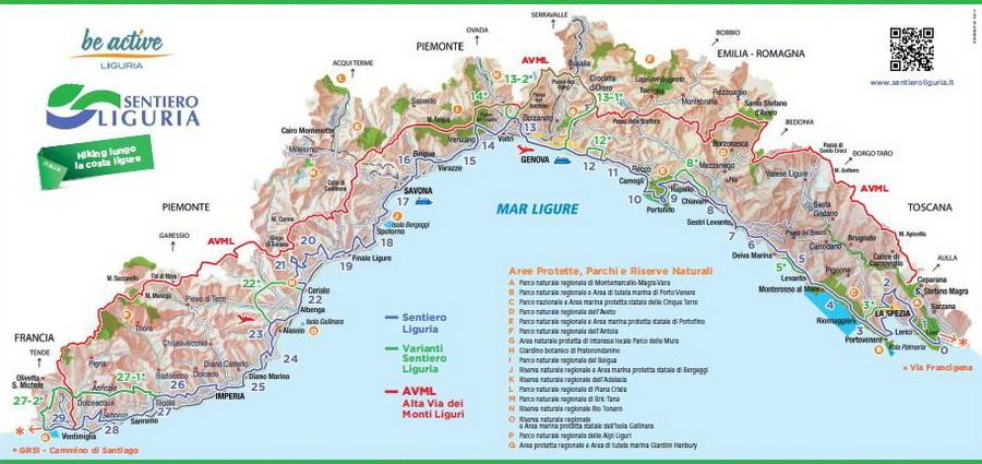 Calendario Regionale Liguria.Sentiero Liguria Calendario Escursioni Estate 2017 In
